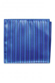 Royal Blue Striped Pocket Square