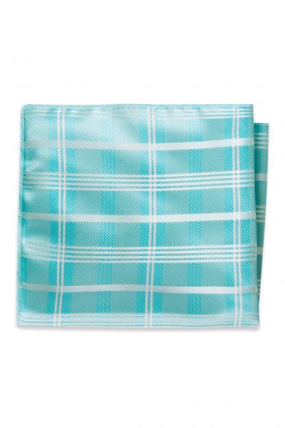 Pool Plaid Pocket Square