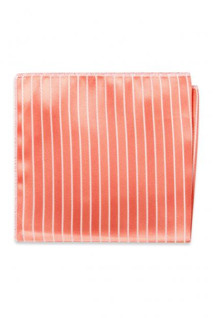 Coral Reef Striped Pocket Square