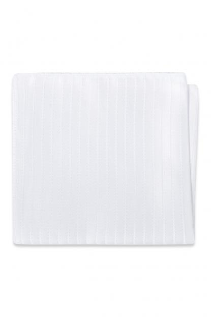 White Striped Pocket Square