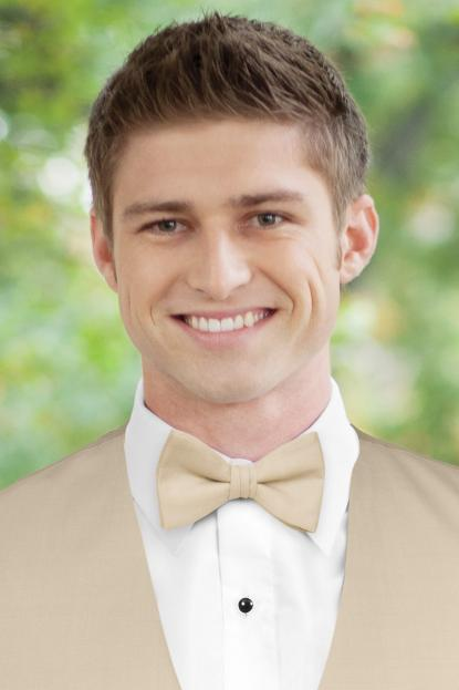 Matching Tan Wool Bow Tie