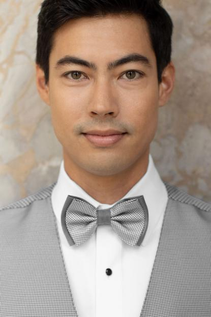 Foundation Heather Grey Bow Tie
