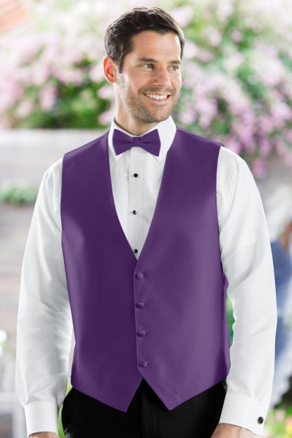 Herringbone Purple Vest