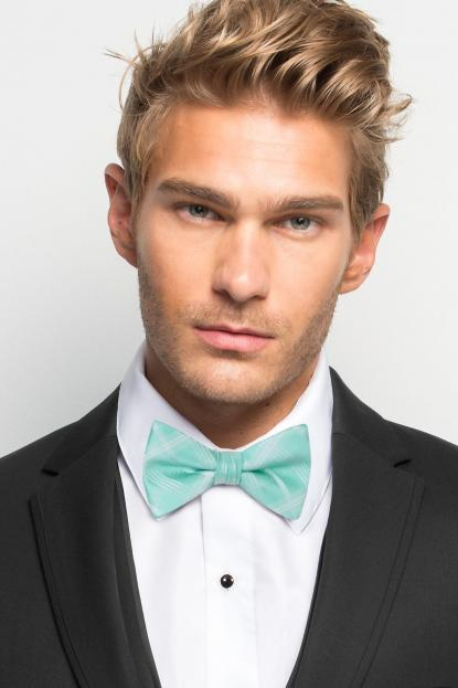 Tiffany Blue Plaid Bow Tie