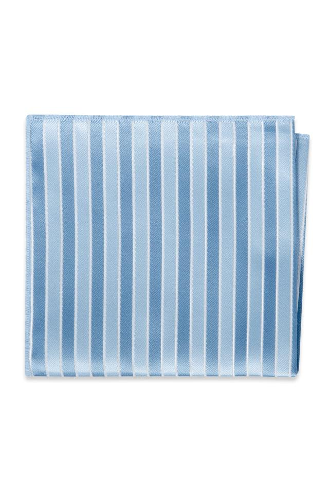 Wedgewood Striped Pocket Square