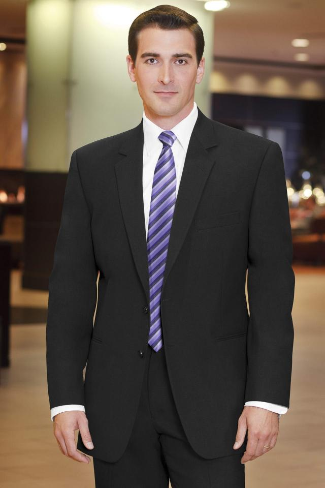 Stephen Geoffrey Black Suit Modern Fit Suit