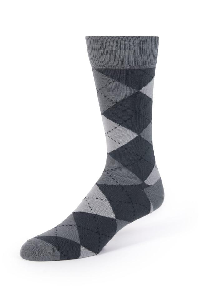 Dark Gray Argyle Socks