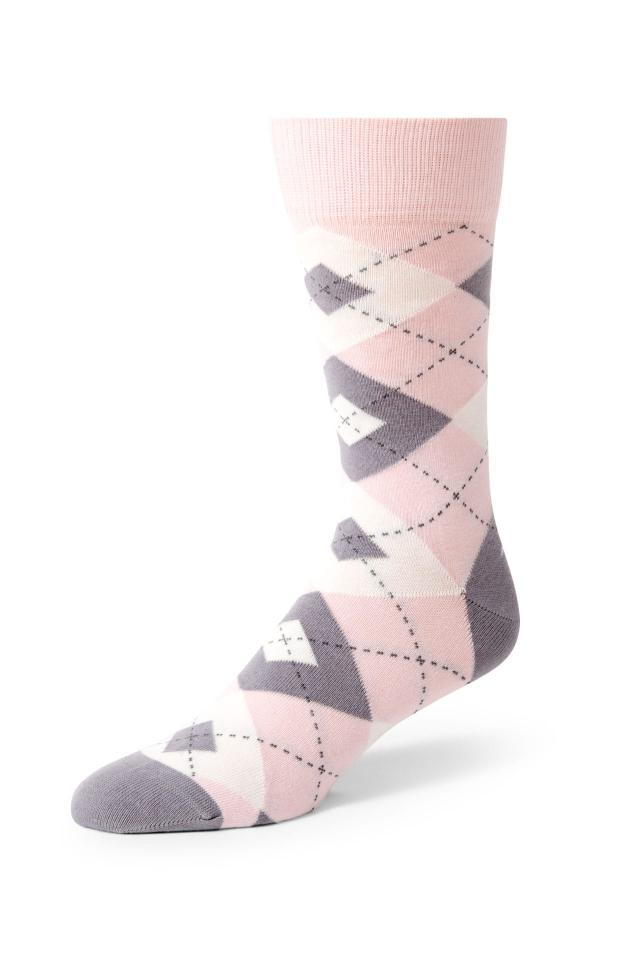 Light Pink Argyle Socks
