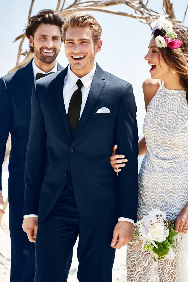 Michael Kors Navy Sterling Wedding Suit Slim Fit Suit
